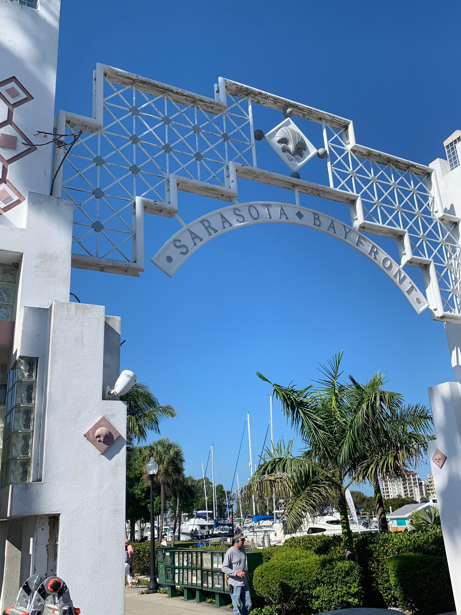 Bayfront Park arch repairs