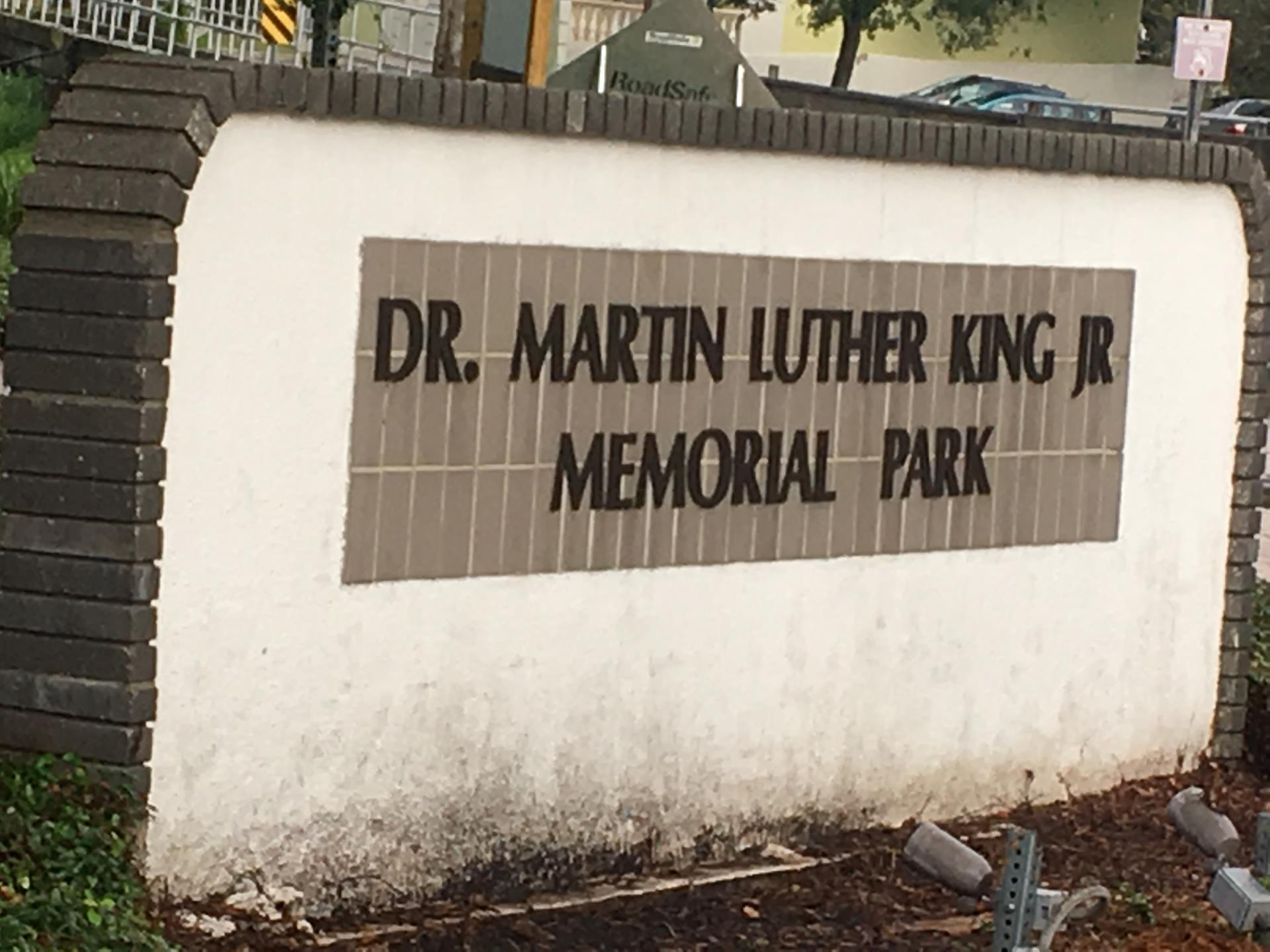 MLK Sign Before