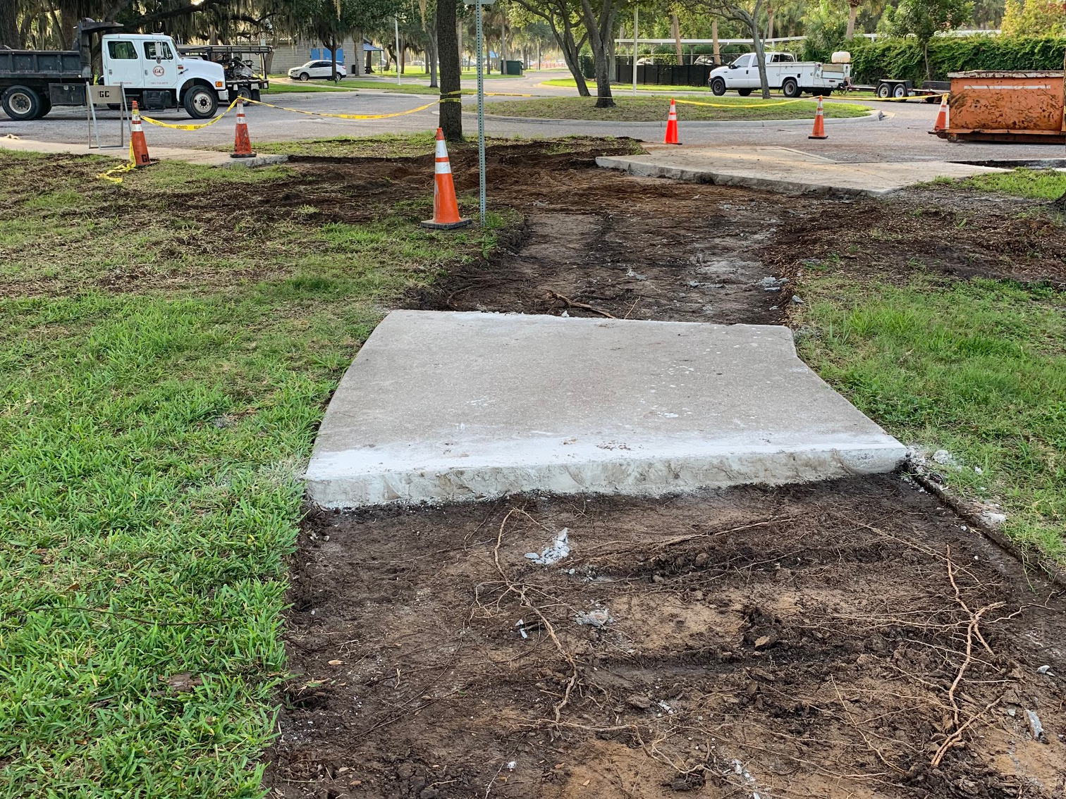 Pavement removed at Whitaker Gateway Park
